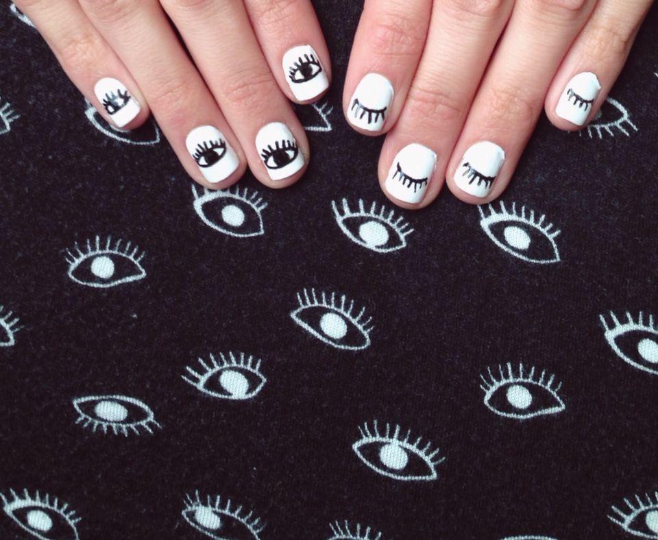 Negro + blanco +ojos @blackswanballet | Nail design | Pinterest ...
