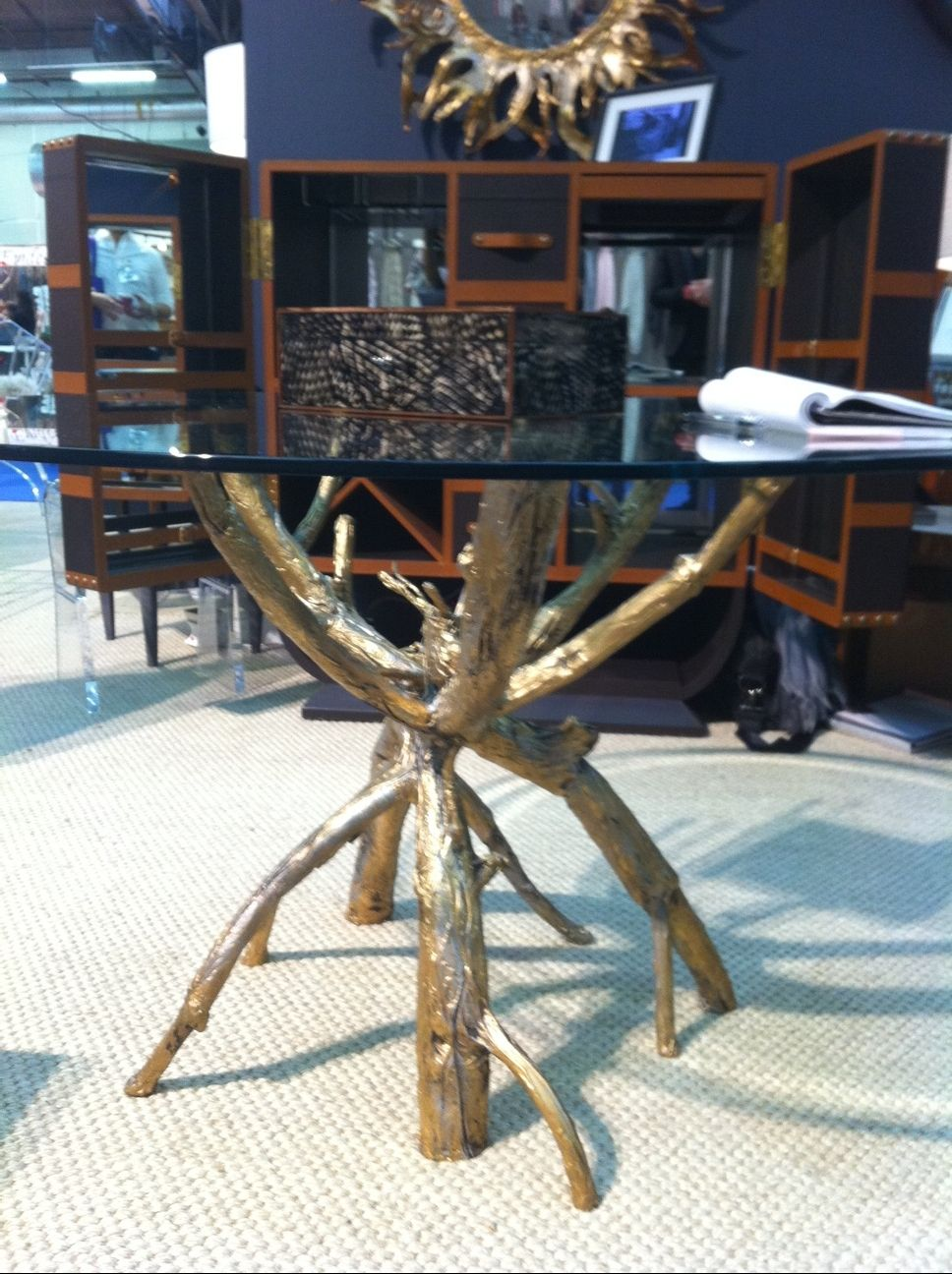 Rustic Tree / Tree Branch Coffee Table With Glass Top. | Home Decor Desires  Wish List | Pinterest