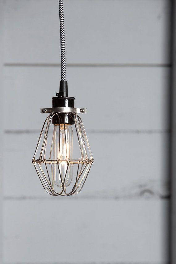 Industrial lighting vintage wire cage light pendant abrigos industrial lighting vintage wire cage light pendant aloadofball Images