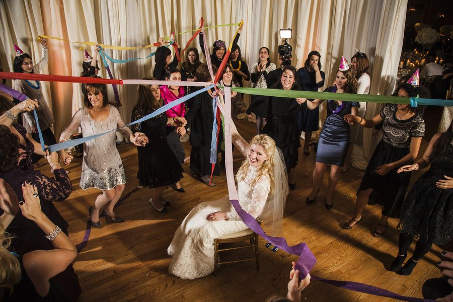 Women Dancing at Orthodox Jewish wedding in Toronto