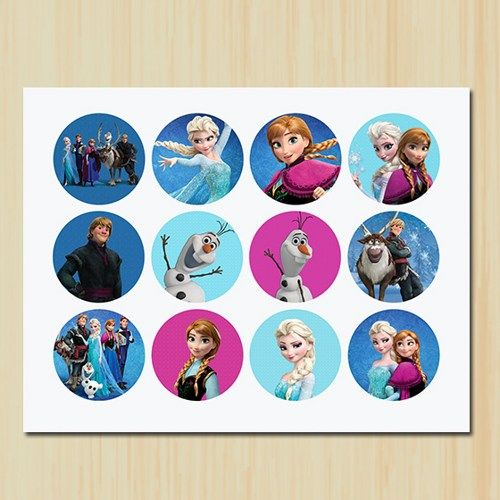 Frozen Cupcake Toppers, Tags, Frozen Movie, Birthday, Party | partytimedecor - Digital Art  on ArtFire