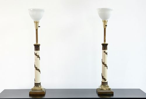 Set of Hollywood Regency Stiffel Lamps   Available at Matthew Rachman Gallery