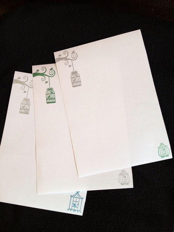 Cage oiseaux lettre / Set d'écriture par kiaherrol sur Etsy, £3.15