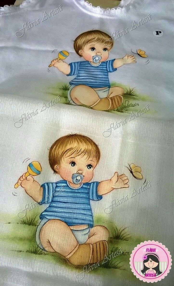 Populares Resultado de imagem para pintura em tecido fraldas | pintura  EH63