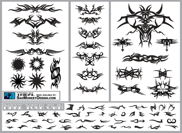 200+ Free Vectors Tribal Graphics & Tattoo Designs