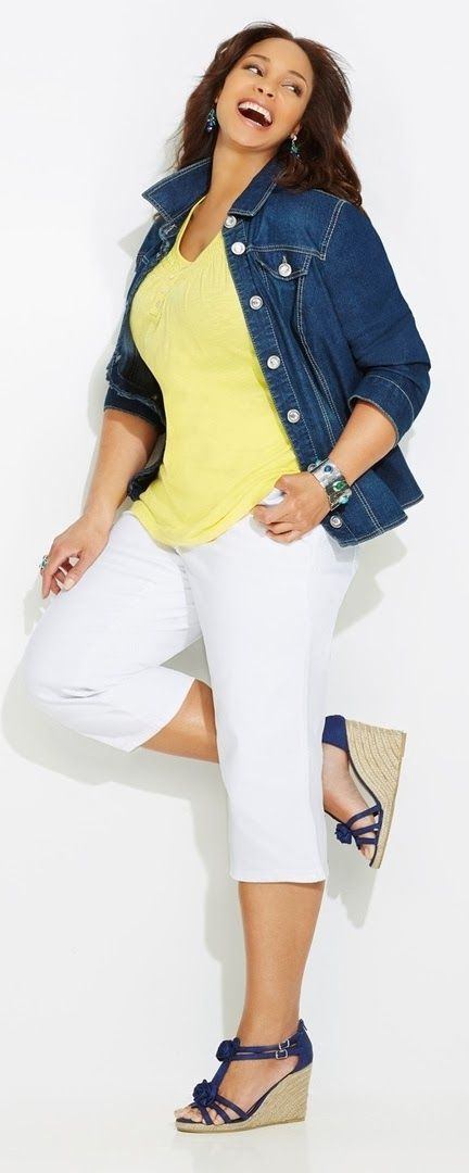 77f9d015983e0 You can try different combinations of plus size yellow clothes to check  which types of garments suit you best.