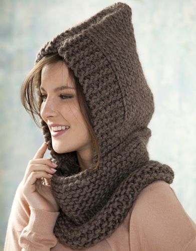 Neck Warmer With Hood Free Knitting Pattern Knitting Pins