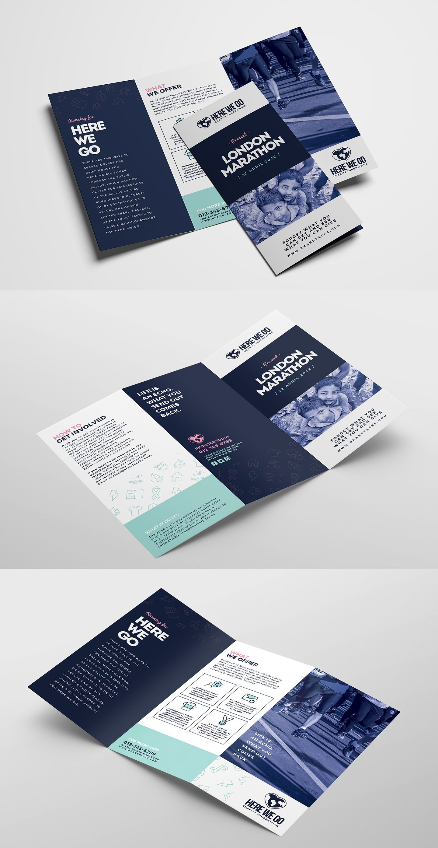 Free Tri Fold Brochure Template For Fundraisers Charity Events