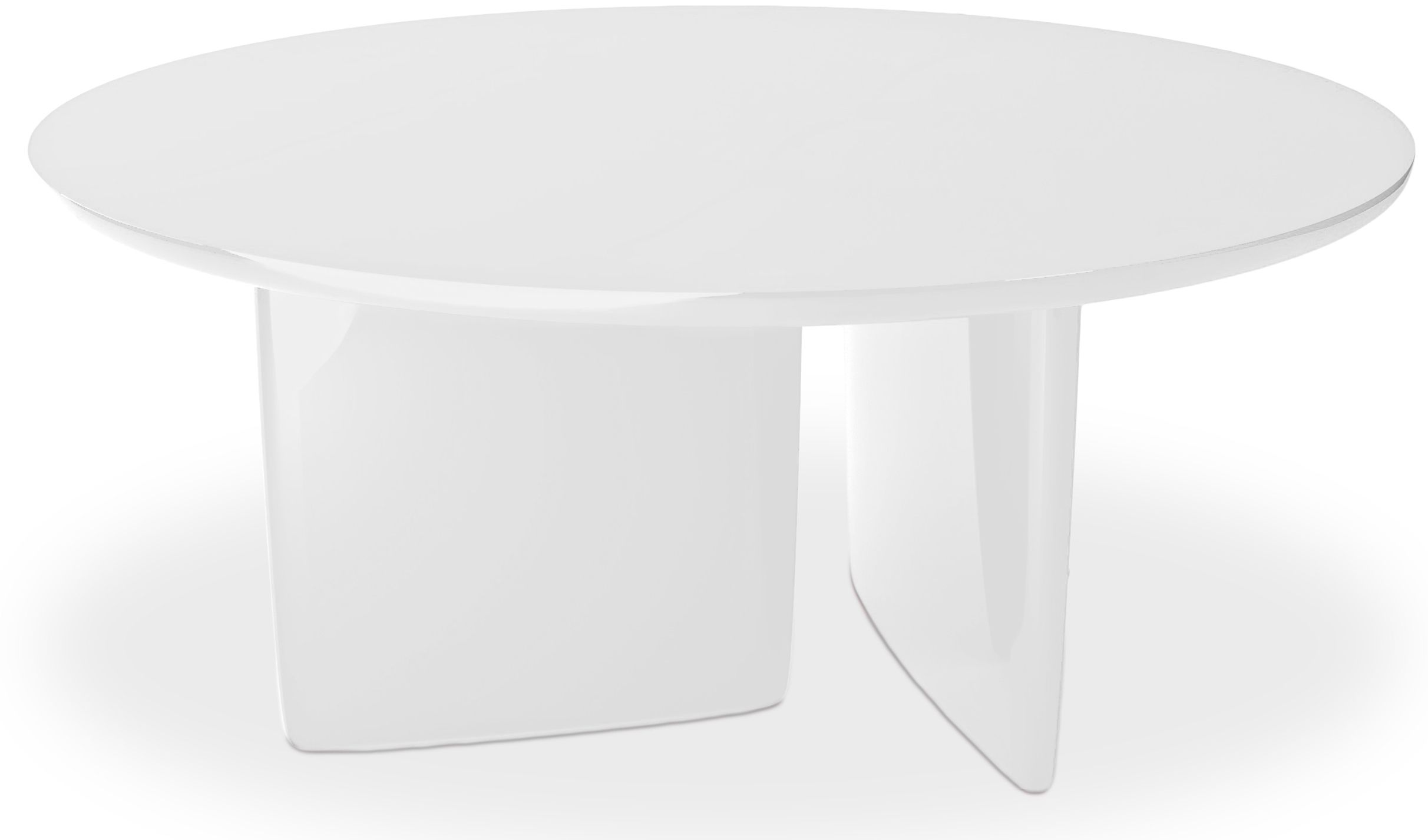 Table A Manger Ronde Laquee Blanc Kare Table A Manger Ronde