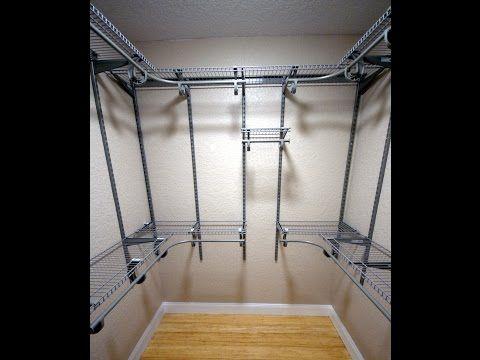 How To Organize Install Master Closet Shelving In Small 6x6 Walk Closetmaid Shelftrack You