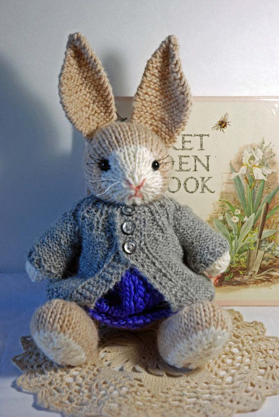 Francis - Knitted Easter Bunny Rabbit toy in Springtime ...