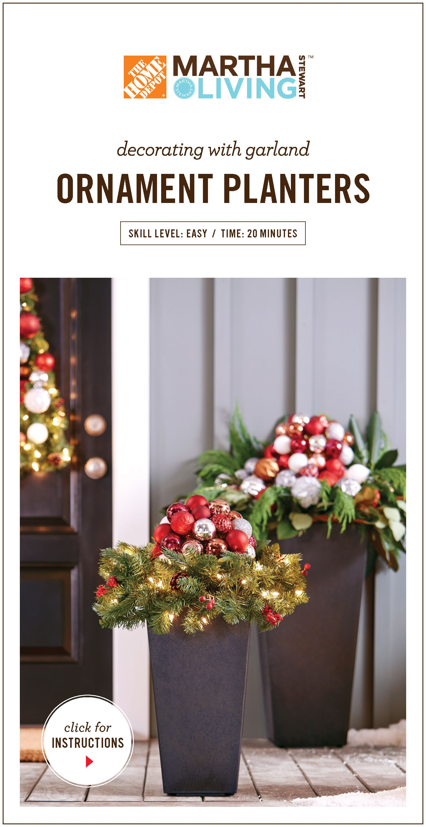 learn how to create holiday ornament planters using garland and a little creativity see more at httpblogblackboxsrucategorychristmas