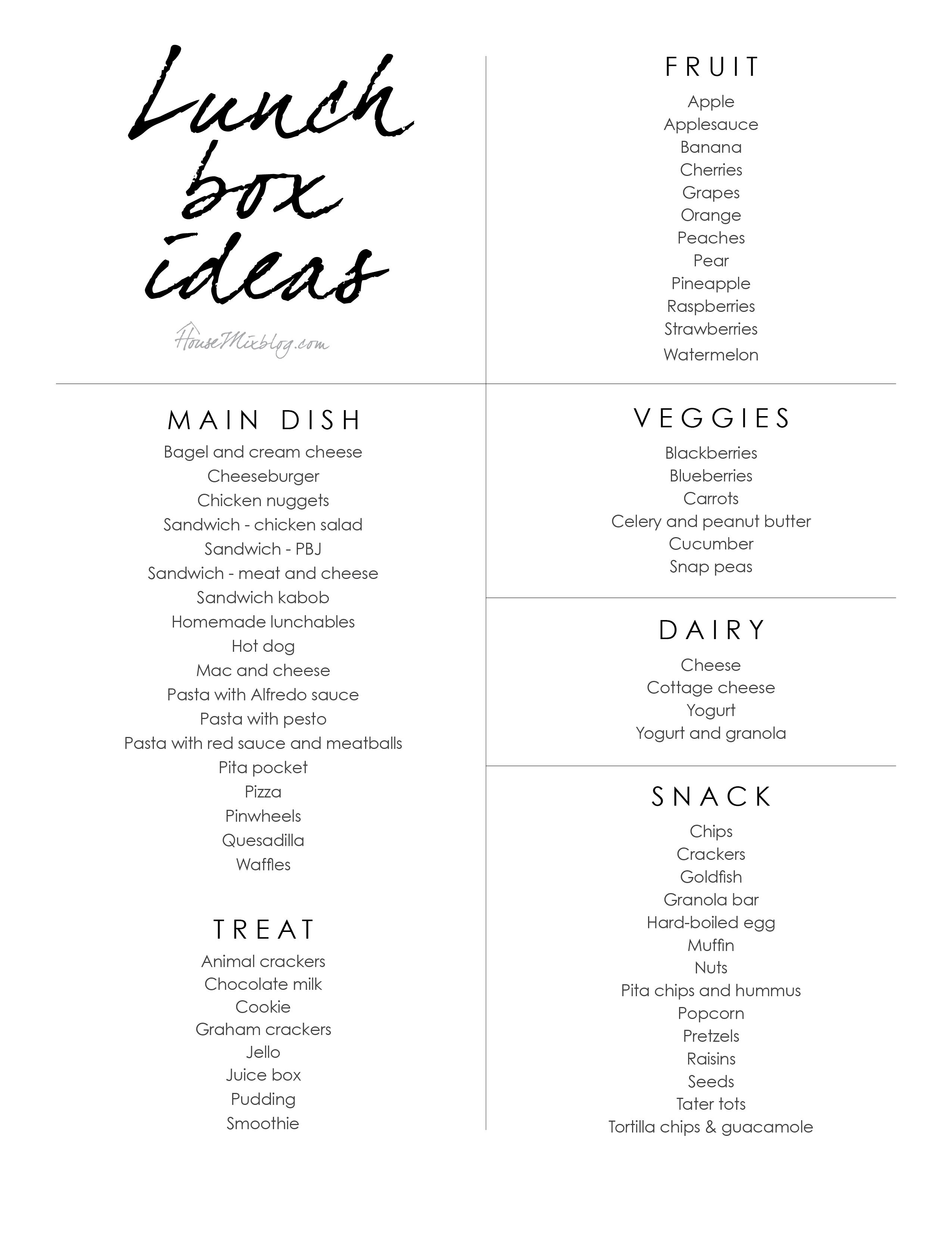 Easy kid lunchbox ideas   Lunches   Easy lunches for kids