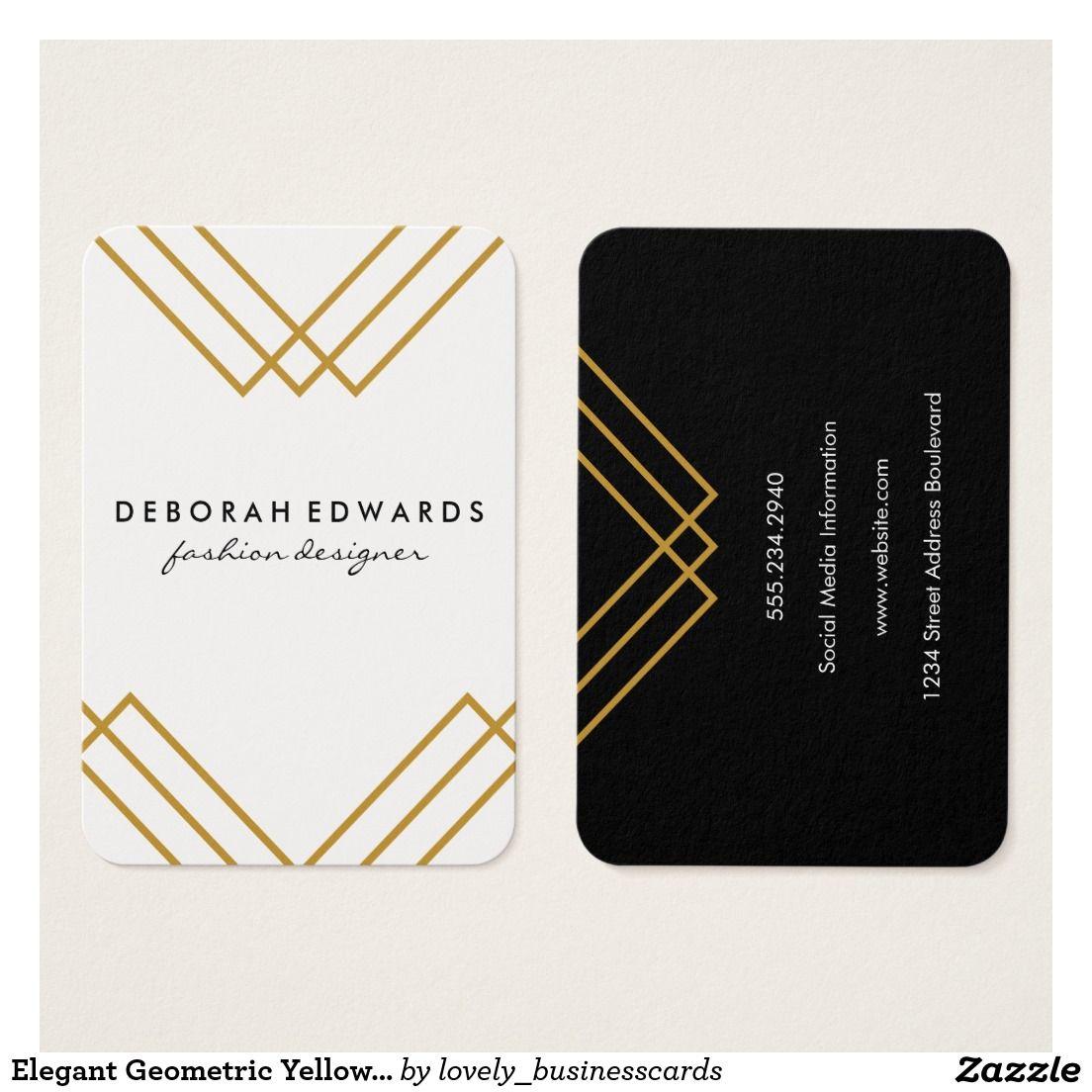 Elegant geometric yellow with gold lines business card business elegant geometric yellow with gold lines business card geometric eventplanner minimalist lifestyleblogger reheart Gallery