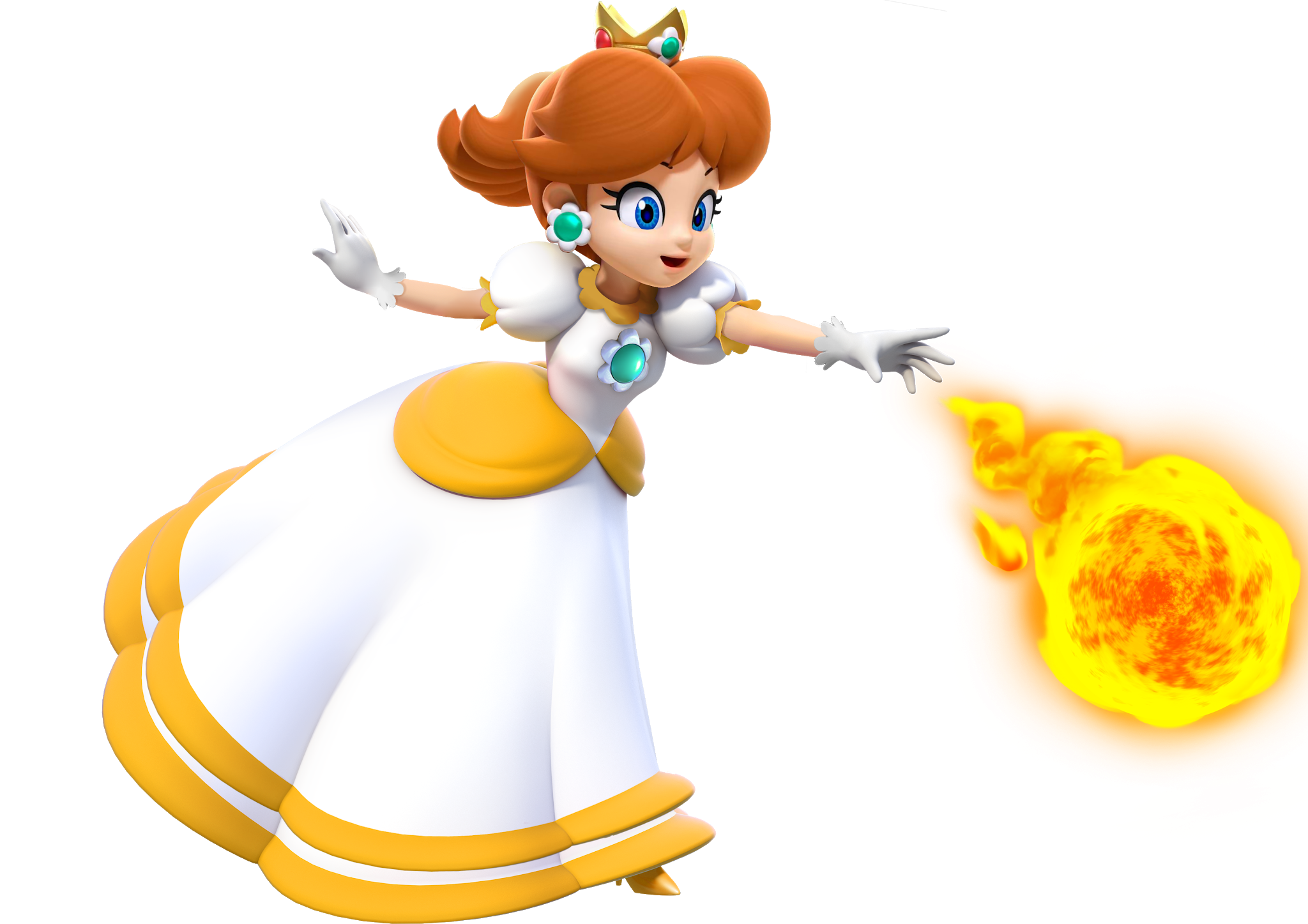 How Princess Daisy Should Be In Her Official Fire Flower Form Take Notes Nintendo By Rikiiu Wearedaisy Princess Daisy Super Princess Peach Mario And Luigi