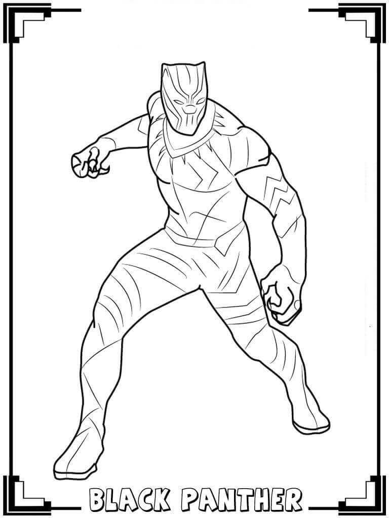 Free Printable Black Panther Coloring Pages Panthere Noire