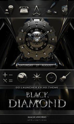 3d Black Diamond Go Launcher V1 Apk Requirements 20 Overview