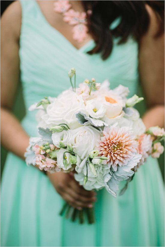 Mint Pink And Gold Rustic Wedding Enchanted Garden Wedding Fox