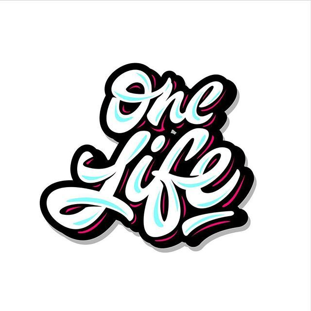 Vector One Life Lettering Logo Print Type Hand Graffiti