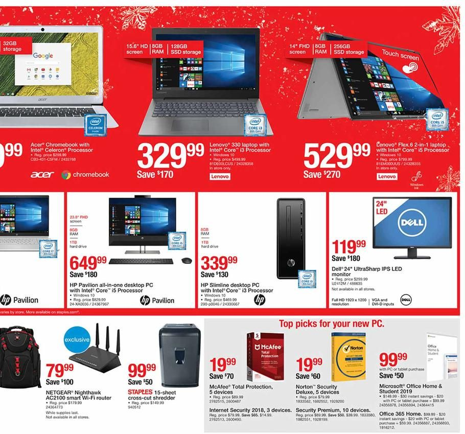 Staples Black Friday Ad Scan Deals And Sales 2019 Black Friday Ads Black Friday Ads