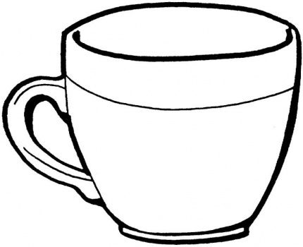 Coloring Pages Cups Teacup Page Super