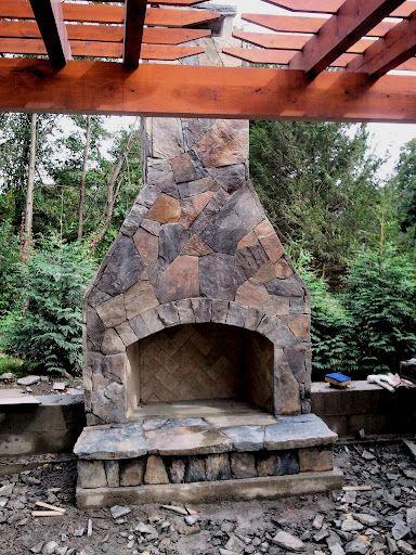 Building An Outdoor Stone Fireplace Q X Tech Ui Power Backyard Ideas Pinterest