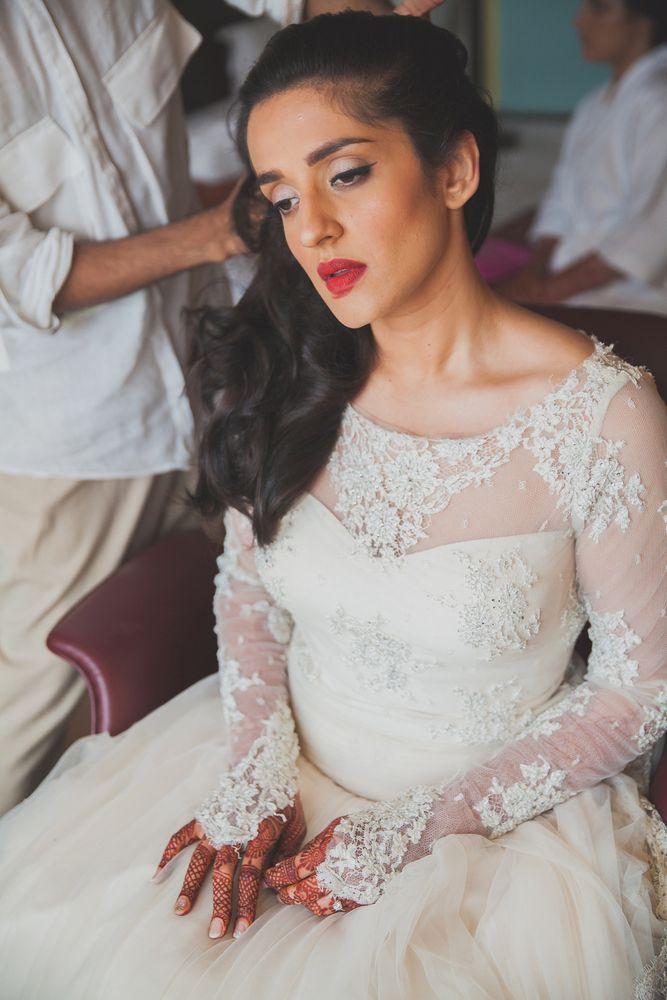 6fc1d444a27 Christian Wedding Gowns - A classic Catholic-Hindu destination wedding in  Goa!  wedmegood  gown  christian