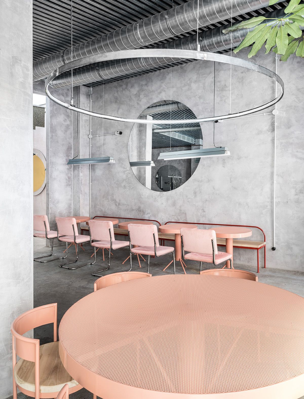 Store Restaurant Exterieur A Concrete And Pastel Oasis In Spain Coffee Shop Restaurant