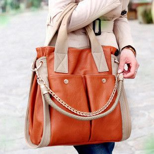 2013 women's handbag vintage shoulder bag casual color block chain women messenger bag women leather handbags $28.00