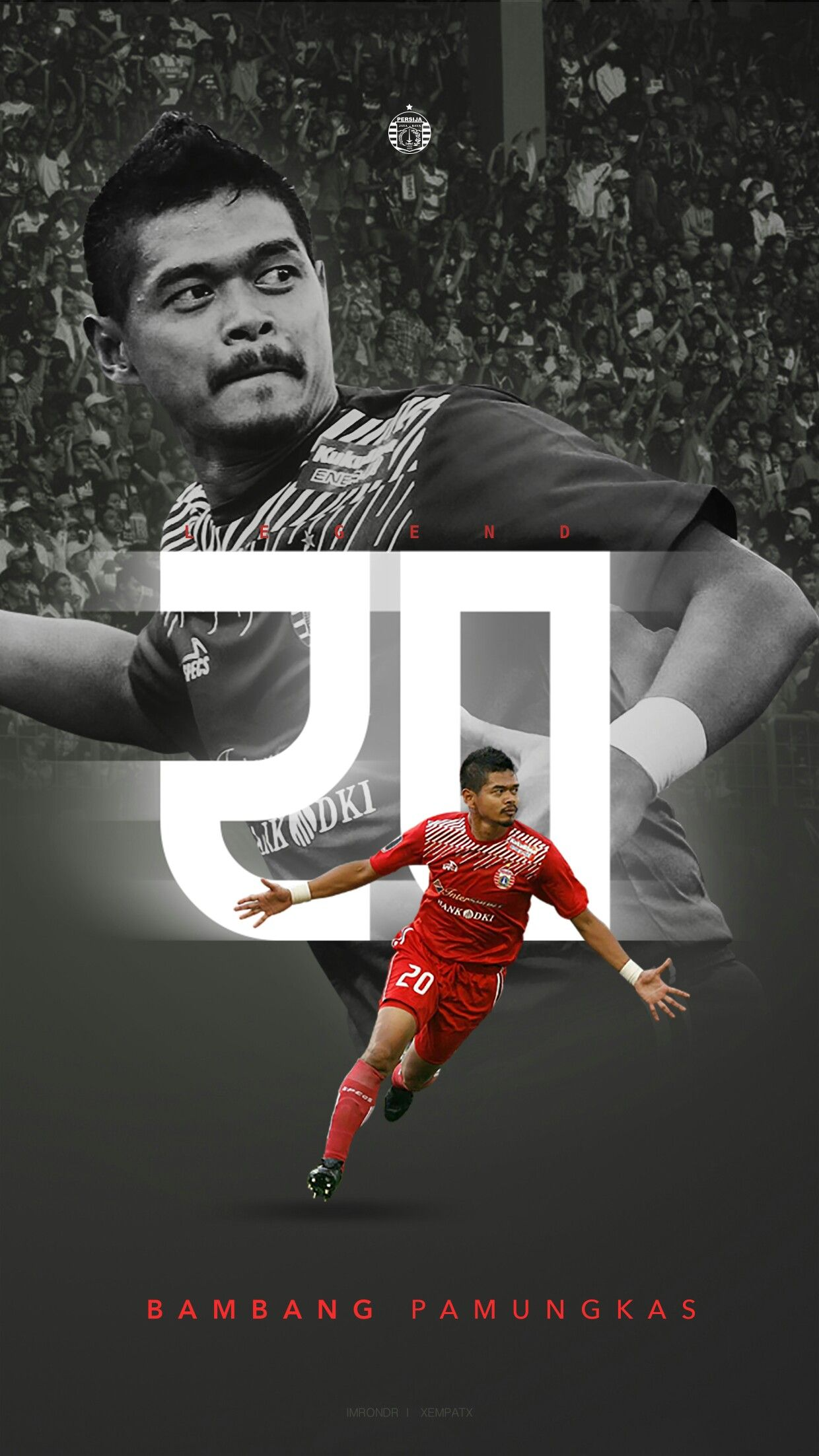 """Persija Jakarta Legenda """"Bambang Pamungkas 20"""""""