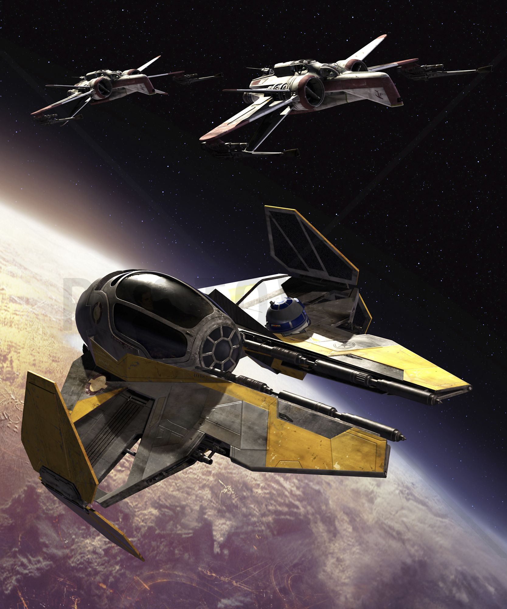 Star Wars   ARC 170 Clone Starfighters   Wall Mural U0026 Photo Wallpaper    Photowall Part 54