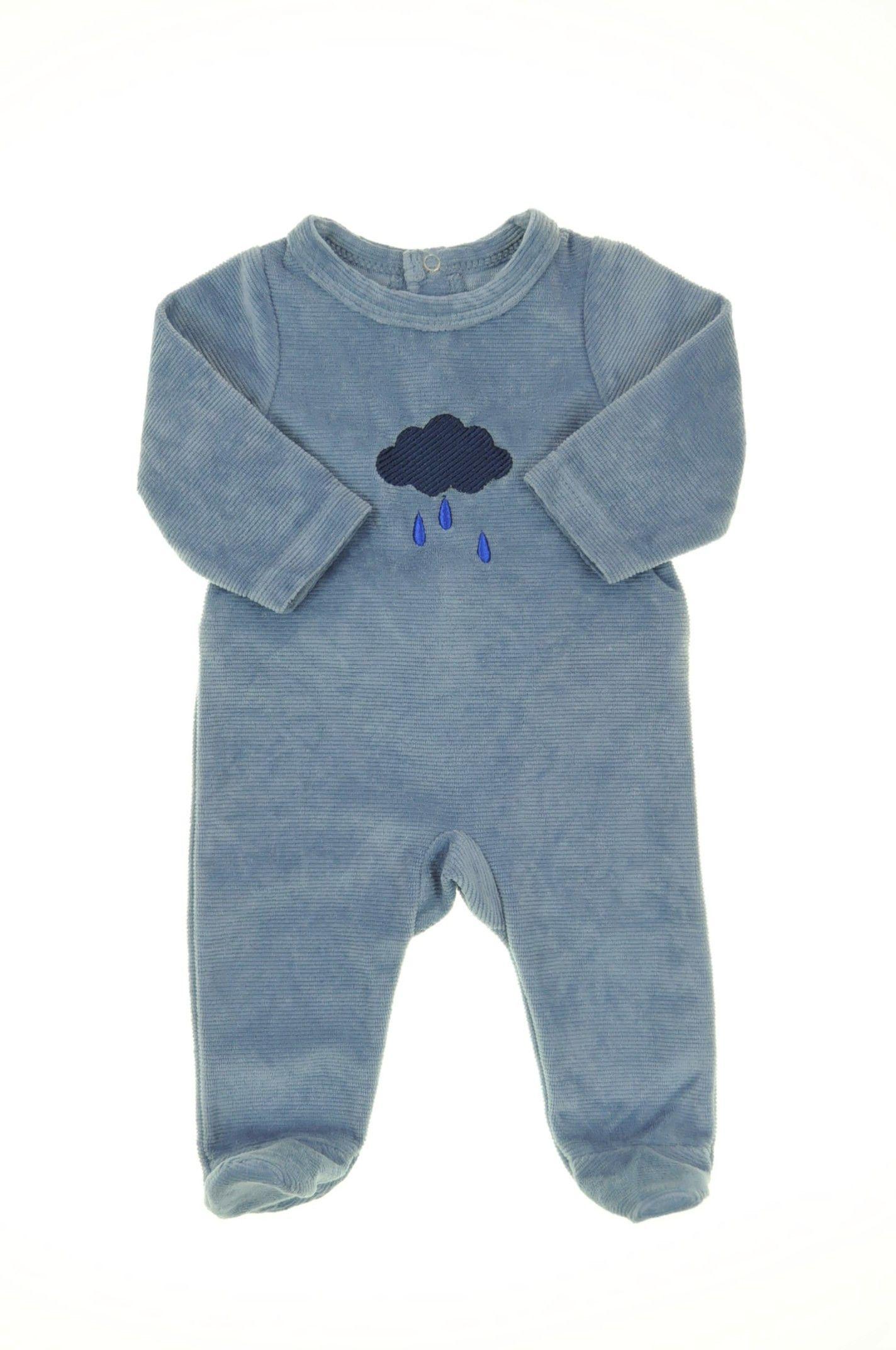 d947e970c8b59 Pyjama velours éponge de la marque Tape à l oeil en taille 0 Naissance - Affairesdeptits  vetement occasion enfant bebe pas cher