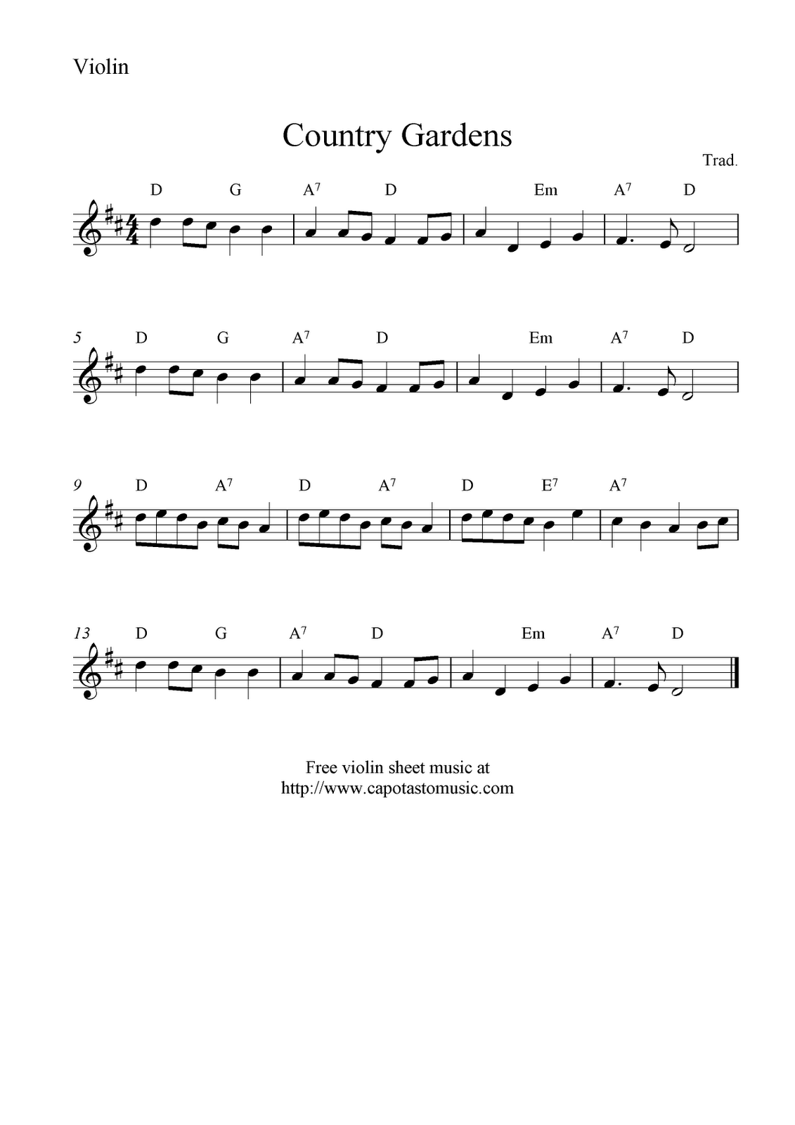violin pieces for beginners pdf