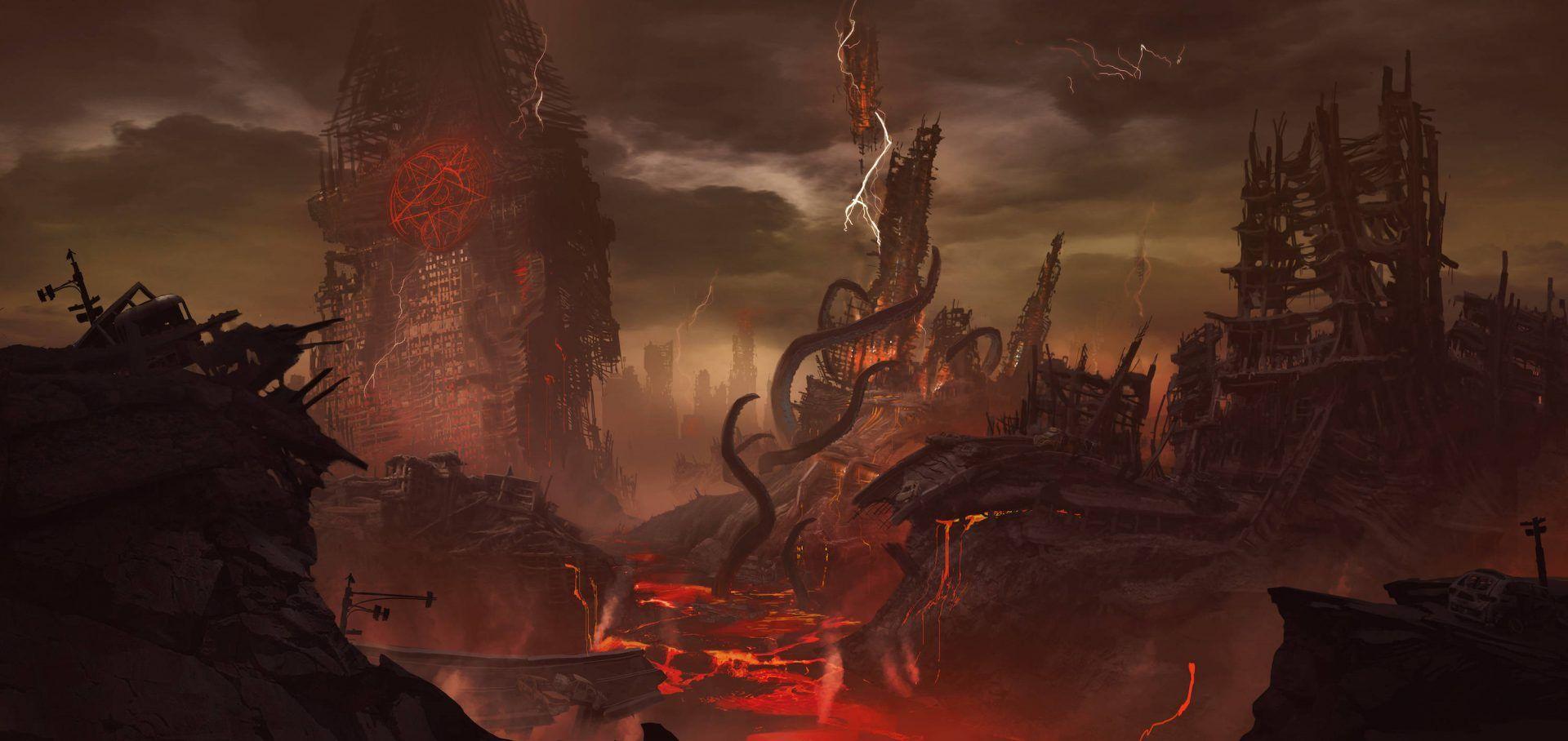 Doom Eternal Release Date Trailer And News Concept Art Doom Eternity