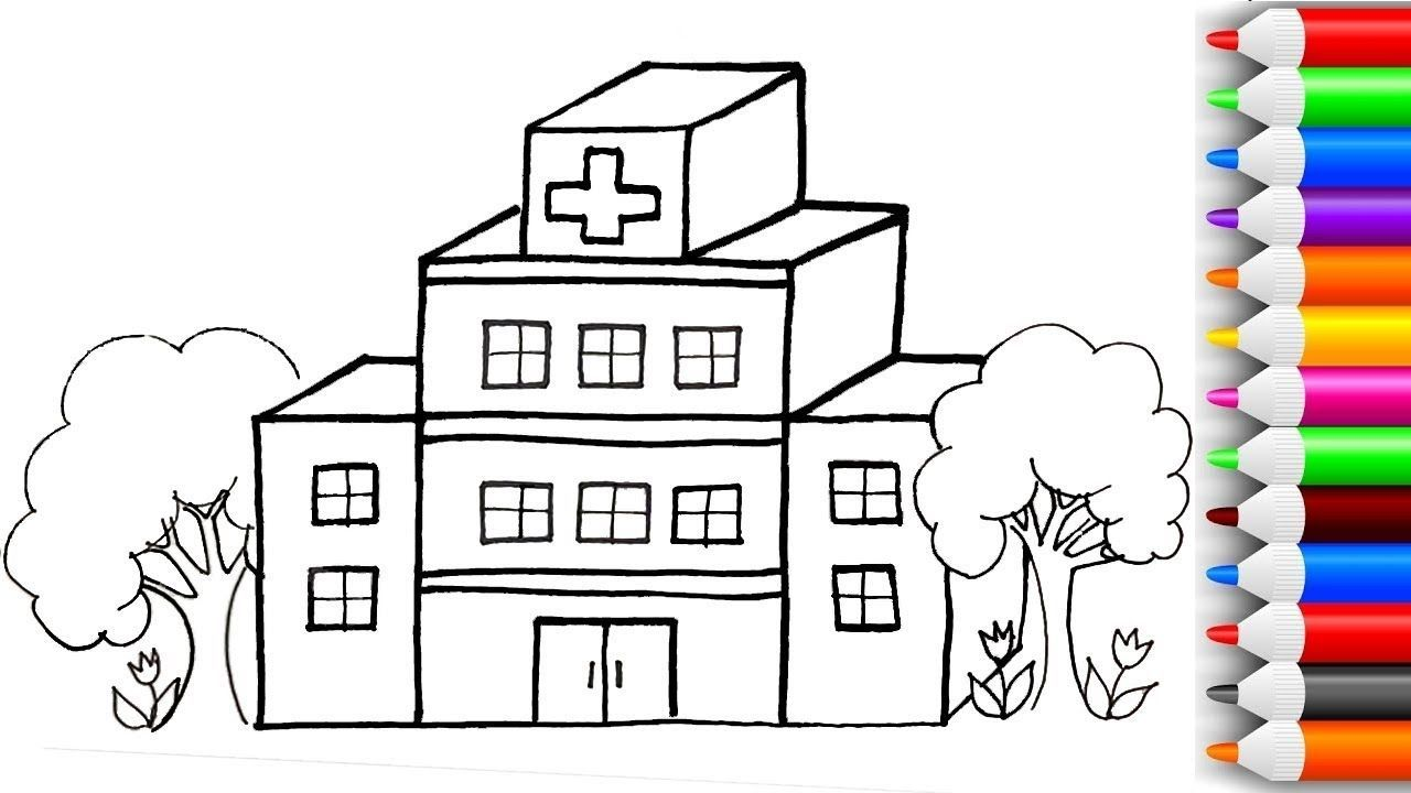 Hospital Drawing For Kids In 2021 Elsa Coloring Pages Drawing For Kids Cartoon Drawing For Kids
