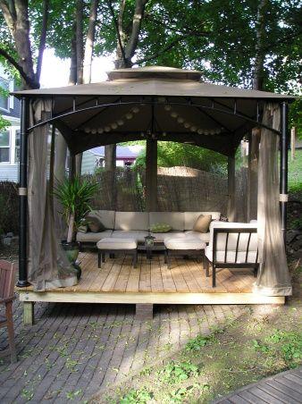 Portable Deck Outside Living Room