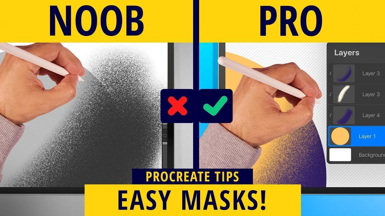 How to Use Clipping Mask Quickly in Procreate (2020