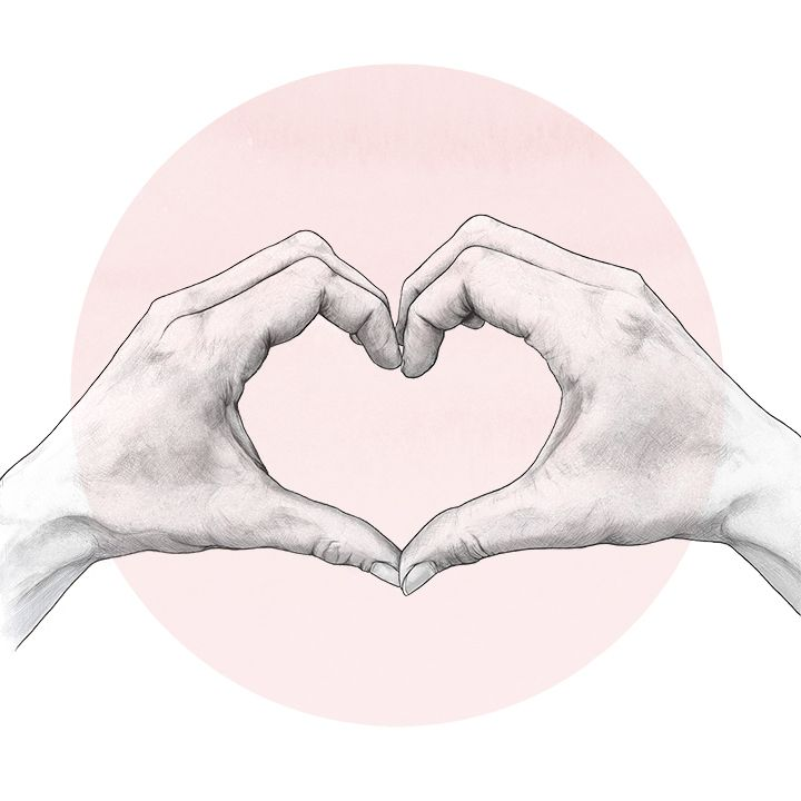 Heart Shaped Hand Drawing Would Love This On A Wedding Invitation