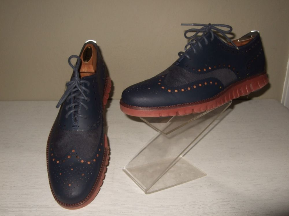 Cole Haan Zerogrand Blue Perforated