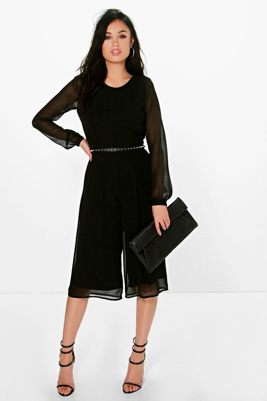 c0b91328e0b Cora Long Sleeve Culotte Jumpsuit