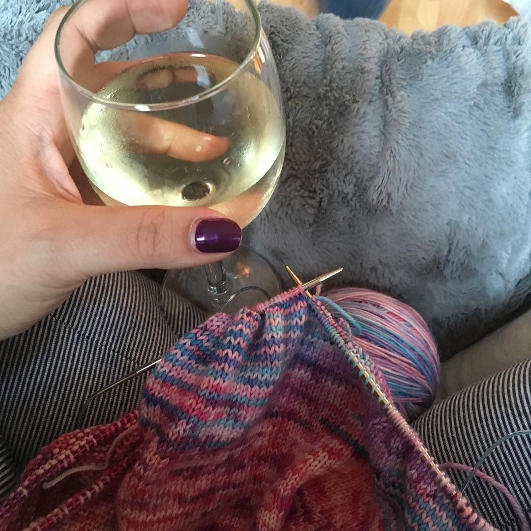 Plans for the evening #knitting
