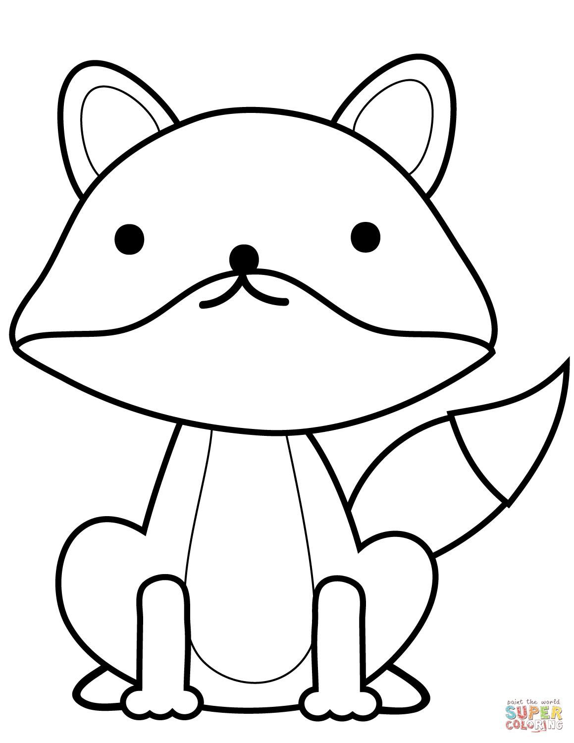 Cute Fox Coloring Pages Design