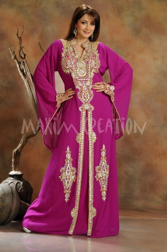 Kaftan Caftan Moroccan Wedding Takshita Bride Maxi Dress Party ...
