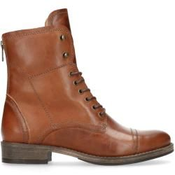 Photo of Stivali stringati in pelle color cognac (36,37,38,39,40,41,42) Manfield