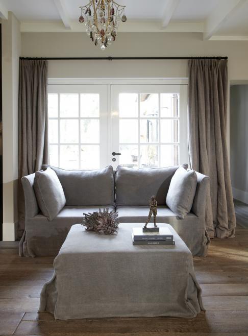 landelijk, taupe muren, taupe gordijnen | Belgian Modern | Pinterest ...