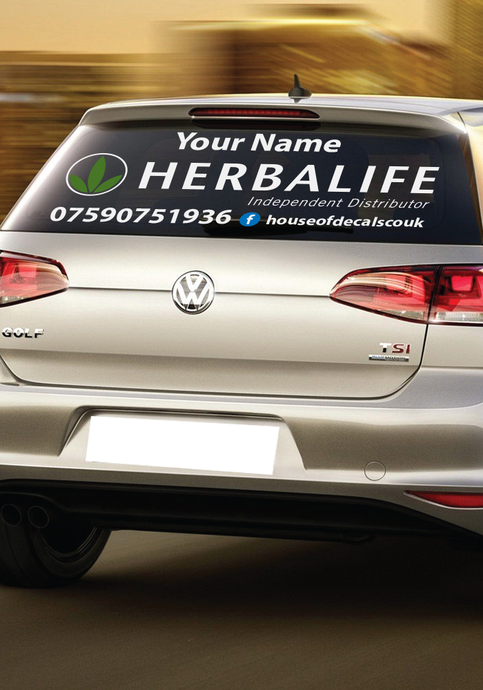Custom Herbalife Car Window Decal Made To Order Product - Custom made window decals for trucks