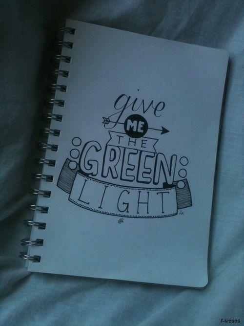 5 seconds of summer: Green Light Lyric Art!!