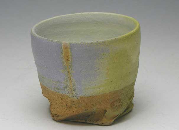 Ken Mihara (1958 - ) powder blue cup FUNSEI Guinomi cup