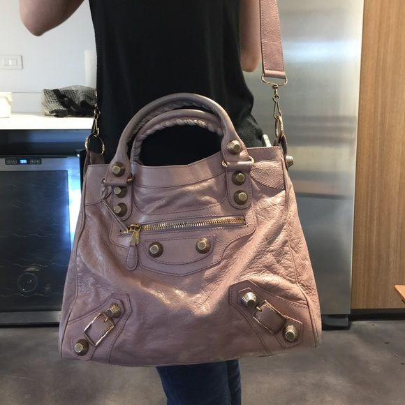 Balenciaga giant velo light pink bag Lambskin leather giant 21 rose gold  velo bag with original receipt Balenciaga Bags Crossbody Bags 17097f8829a0c