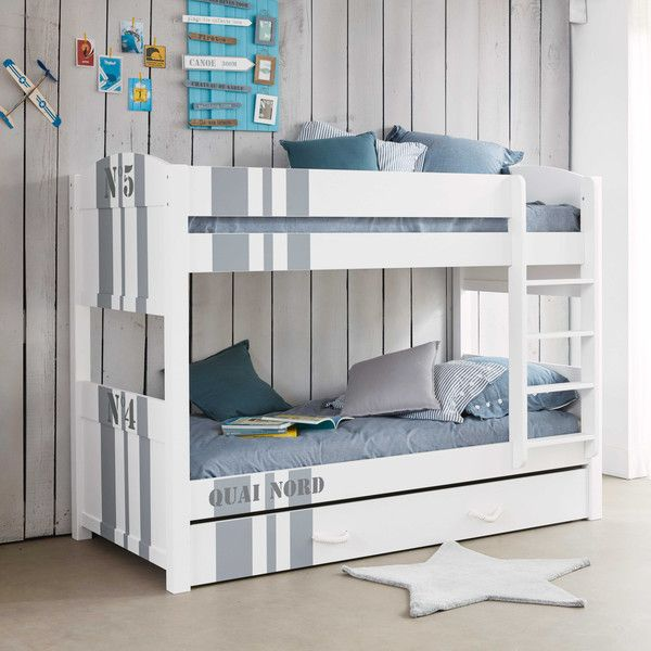 Letto a castello bianco 90 x 190 cm pinterest kids rooms and room - Befara letto a castello ...